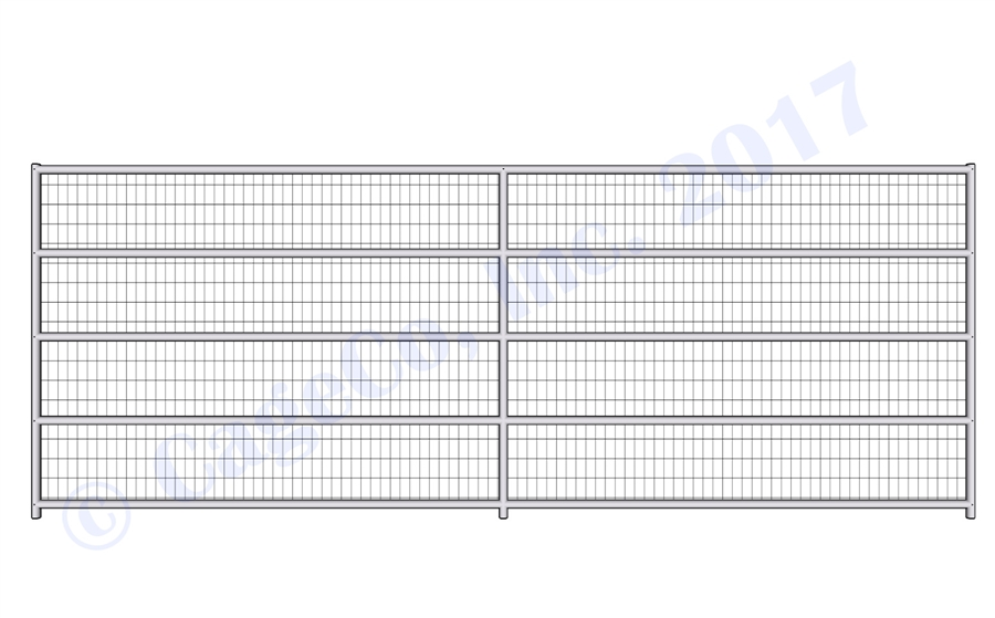 Welded Wire Corrals - 1 7/8 Horse Corral Panel 5 Rail With Welded ...