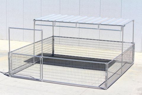 Mini Horse Corrals & Shelters w/ Welded Wire - 12X12 2-rail 3\' high ...
