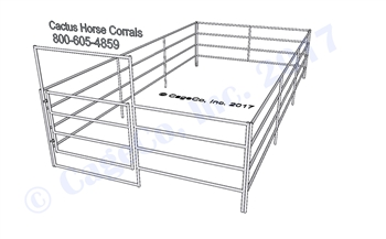 3-Rail Complete Horse Corral