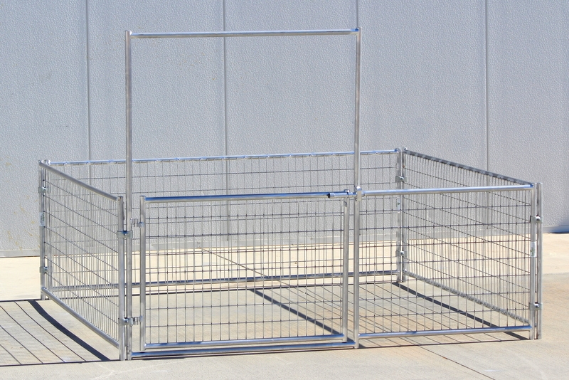 Mini Horse Corrals & Shelters w/ Welded Wire - 8x8 3-rail 3\' high ...