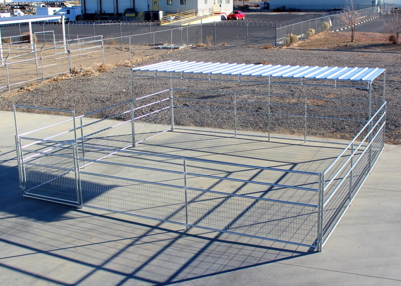 Shelter Panel W : Mare foal horse corrals shelters rail
