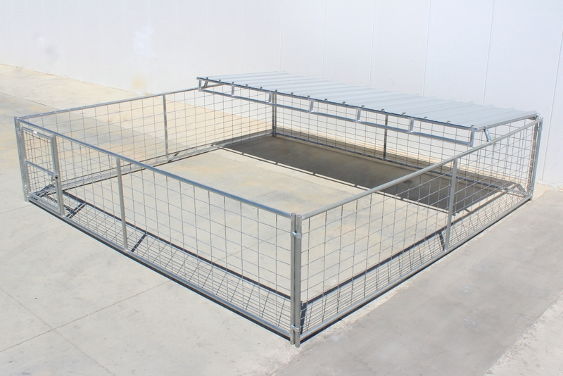 Livestock Pens - 8\'x16\' Hog Pen with Trussed Roof Shelter | Cactus ...