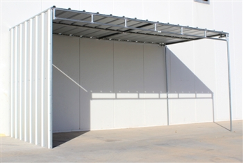 Horse Shelter Covered with 1 Side Panel