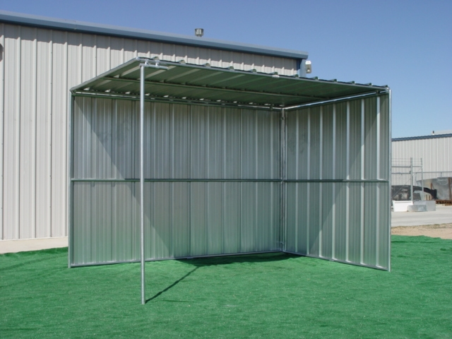 Horse Shelters 8 X 12 Horse Shelter 2 Sided Covered