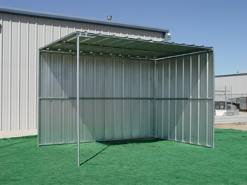 Horse Shelter, 2 Sided, Covered