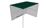 Horse Shelter, 2 Sided, Covered Painted Evergreen