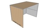 8'x12' Horse Shelter 3 Sided Painted Surrey Beige