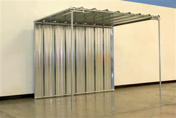 Our 6'x 8'  1-Sided Mini Horse Shelter ~ $320.00 ~ Order Online Today!