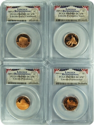 2009-S PCGS PR69DCAM Lincoln Set of 4 Bicentennial Presidential Label