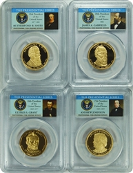 2011-S PCGS PR70DCAM SET of Four Presidential Dollars