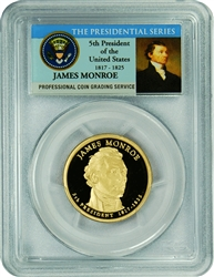 2008-S PCGS PR70DCAM James Monroe Presidential Dollar Commemorative