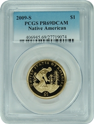 2009-S PCGS PR69DCAM Native American Dollar (New PCGS Label)