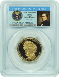 2010-S PCGS PR70DCAM Franklin Pierce Presidential Dollar