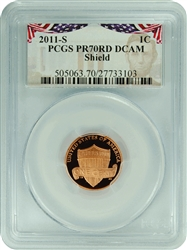 2011-S PR70RD DCAM Lincoln Cent Shield Presidential Label