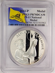 2011-W PCGS PR70DCAM 9-11 National Medal Don't Tread On Me Label
