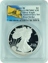 2011-W PCGS PR70DCAM Silver Eagle 25th Anniversary First Strike (Don't Tread on Me)
