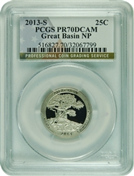 2013-S PCGS PR70DCAM Great Basin NP-Silver