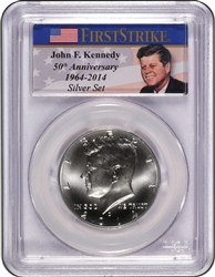 2014-D PCGS MS70 Kennedy Silver Half Dollar Commemorative First Strike