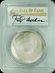 2014-P PCGS MS70 Baseball Hall Of Fame Autographed Rod Carew $1 First Strike