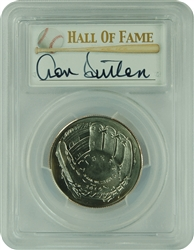 2014-D PCGS MS70 Baseball Young Collector Half Dollar Autographed Don Sutton First Strike