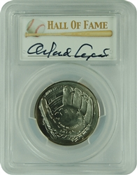 2014-D PCGS MS70 Baseball Young Collector .50 Autographed Orlando Cepeda First Strike