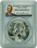 1974-S PCGS MS68 Silver Eisenhower Dollar Presidential Label
