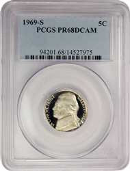 1969-S PCGS PR68DCAM Jefferson Nickel Proof (Classic Label)