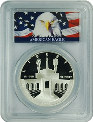 1984-S PCGS PR70DCAM Olympic $1 Silver Commemorative (Bald Eagle Label)