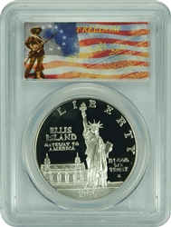 1986-S PCGS PR70DCAM Statue of Liberty Silver Dollar Freedom Label