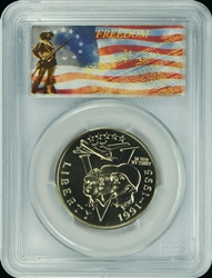 1991-95 P PCGS MS70 World War II Commemorative Half Dollar Freedom Label