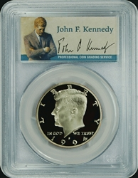1994-S PCGS PR70DCAM Kennedy Half Dollar Silver Commemorative Presidential Label