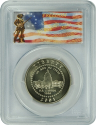 2001-P PCGS MS70 Capitol Visitor Commemorative Silver Half Dollar Freedom Label