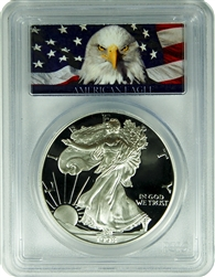 1998-P PCGS PR70DCAM Silver Eagle Dollar Bald Eagle Label