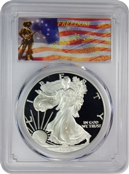 1998-P PCGS PR70DCAM Silver Eagle Dollar Freedom Label
