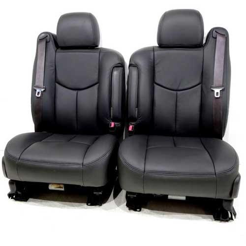 Chevrolet Silverado Crew Cab Katzkin Leather Seats 2003 2