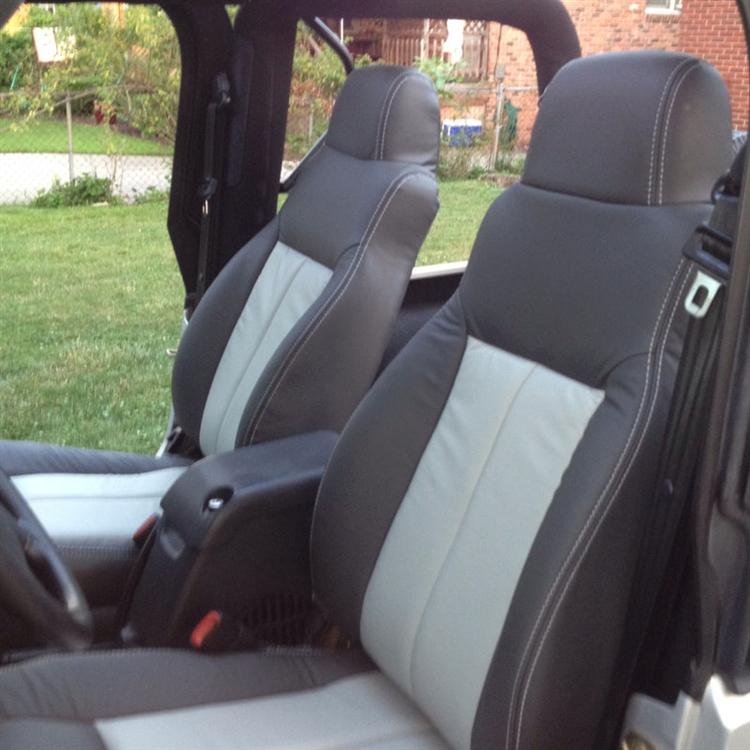 Jeep Wrangler Katzkin Leather Seats 2003 2004 2005 2006 Autoseatskins Com
