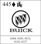 Katzkin Embroidery - Buick Logo with lettering, EMB-445