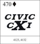 Katzkin Embroidery - Civic cXi, EMB-470