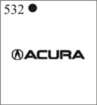 Katzkin Embroidery - Acura Logo with lettering, EMB-532