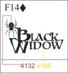 Katzkin Embroidery - Black Widow, EMB-F14