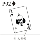 Katzkin Embroidery - Ace of Spades with skull, EMB-P92