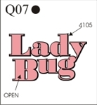 Katzkin Embroidery - Lady Bug, EMB-Q07