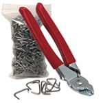 Auto Upholstery Hog Rings and Pliers Set