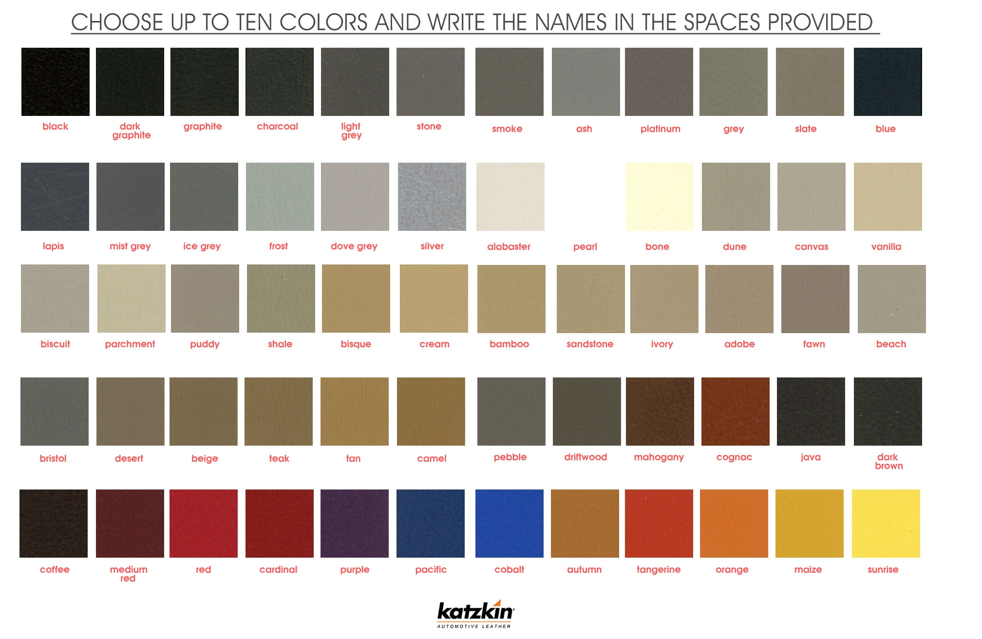 2016 Jeep Color Chart