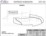Nissan 300zx Coupe Katzkin Leather Trim Kit, 1990 - 1997