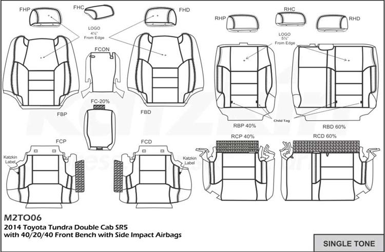 Toyota Tundra Seat Covers >> Toyota Tundra Double Cab Katzkin Leather Seats 2014 2015 2016