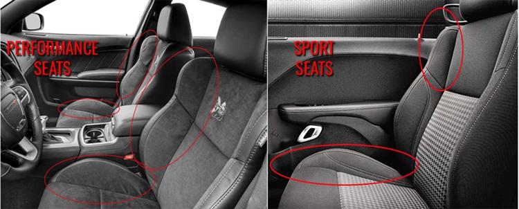 dodge challenger srt scat pack hellcat katzkin leather seats C-Notch Ram Dually interior n2do52