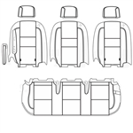 Ford Transit Wagon XLT Katzkin Leather Seats (2nd row, solid bench for 3 passengers with one arm), 2015, 2016, 2017, 2018, 2019, 2020