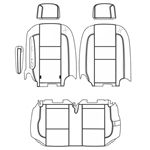 Ford Transit Wagon XLT Katzkin Leather Seats (2nd row, solid bench for 2 passengers with one arm), 2015, 2016, 2017, 2018, 2019, 2020