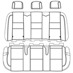 Ford Transit Wagon XL Katzkin Leather Seats (2nd row, solid bench for 3 passengers, no arm), 2015, 2016, 2017, 2018, 2019, 2020